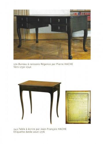 French Louis XV Bureau de pente by Jean François Hache around 1761 - Furniture Style Louis XV