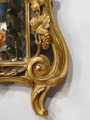 Mirrors, Trumeau  - Louis XV giltwood mirror