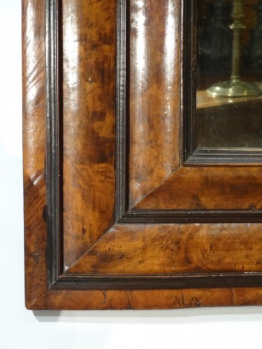 "Large 17th century ""inverted profile"" mirror in  in olive tre - Mirrors, Trumeau Style Louis XIII"