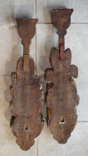 Pair Of Wooden Falls, Gilded Wood, 17th Century -