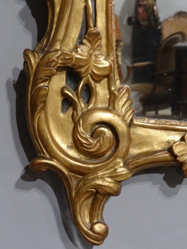 Louis XV - French Louis XV mirror in gilded wood, 18th century