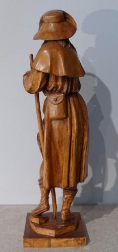 Sculpture  - German Saint Roch, Carved Boxwood, 18th Century