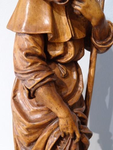 Louis XVI - German Saint Roch, Carved Boxwood, 18th Century