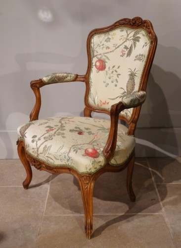 Four french armchairs Louis XV, 18th century -