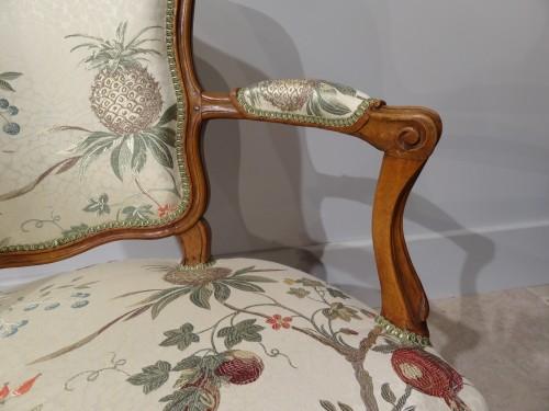 Louis XV - Four french armchairs Louis XV, 18th century
