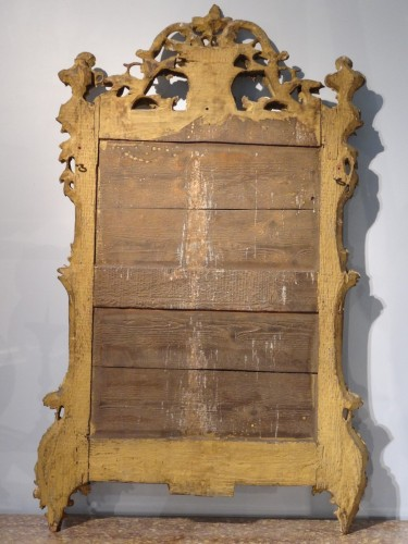 French Mirror 18th Century - Mirrors, Trumeau Style Transition