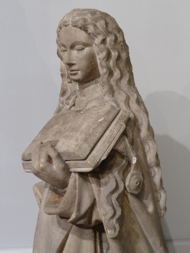 Holy carved stone, Burgundy, 15th century - Sculpture Style Middle age