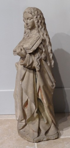 16th century - Holy carved stone, Burgundy, 15th century