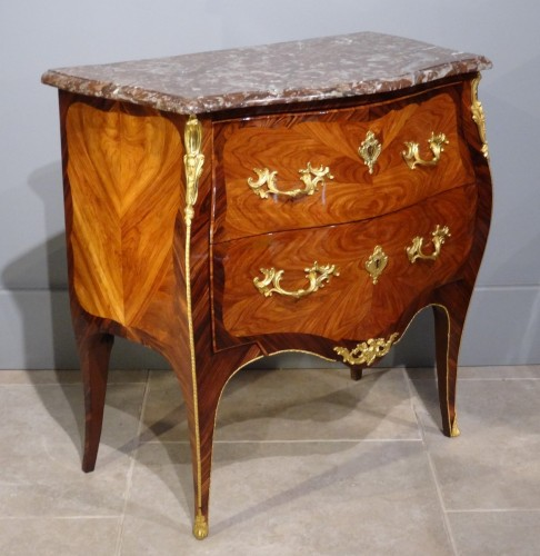 French Louis XV Commode, Stamped L. Boudin, 18th Century - Furniture Style Louis XV