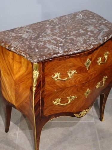 French Louis XV Commode, Stamped L. Boudin, 18th Century -