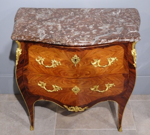 French Louis XV Commode, Stamped L. Boudin, 18th Century - Louis XV