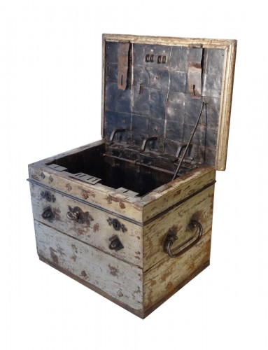 Wrought Iron Chest, 17th Century