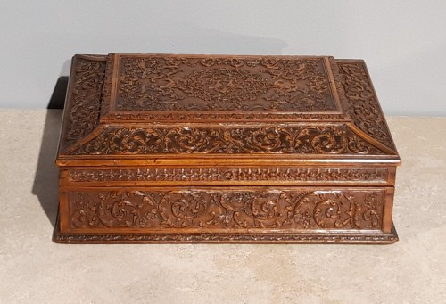 French Wedding Box, Saint Lucia Wooden, César Bagard Workshop - Furniture Style Louis XIV