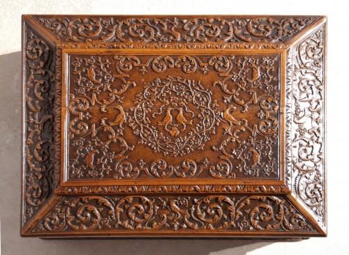 French Wedding Box, Saint Lucia Wooden, César Bagard Workshop -
