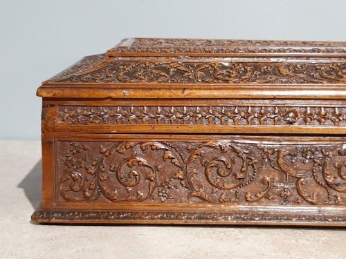17th century - French Wedding Box, Saint Lucia Wooden, César Bagard Workshop