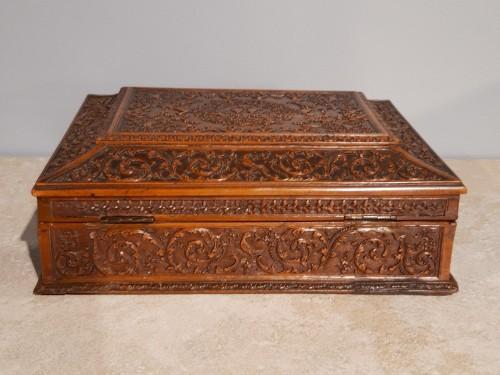 Louis XIV - French Wedding Box, Saint Lucia Wooden, César Bagard Workshop