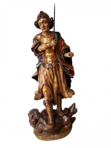 Saint Michael slaying the demon, Spain17th century