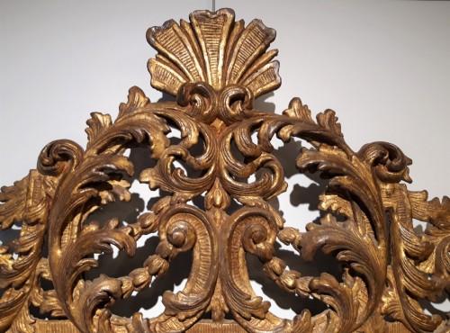 Italian mirror in gilt wood 17th century -