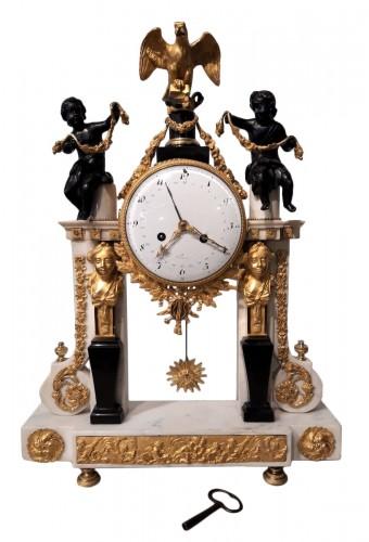French Parisian Pendulum Louis XVI, Revolutionary, Late 18th Century
