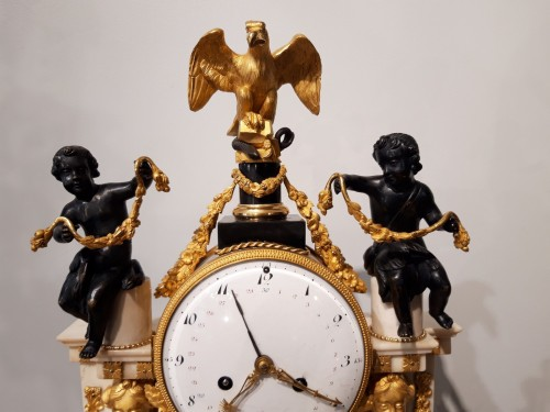 French Parisian Pendulum Louis XVI, Revolutionary, Late 18th Century -