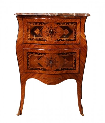 Small Italian Commode, Inlaid, 18th Century