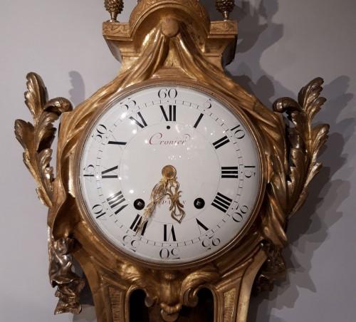 """Clocks  - French Louis XVI cartel, by the watchmaker """"Cronier à Paris"""""""