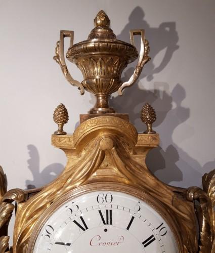 """French Louis XVI cartel, by the watchmaker """"Cronier à Paris"""" -"""