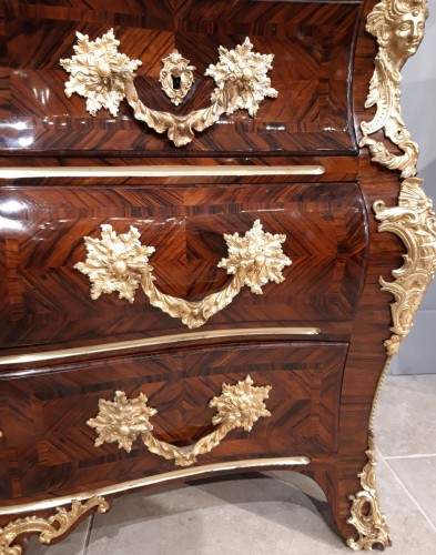 French Regence Commode 18th Century, Attributed To A.m Criaerd -