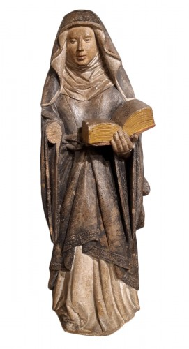 French Holy, carved stone, 15th century