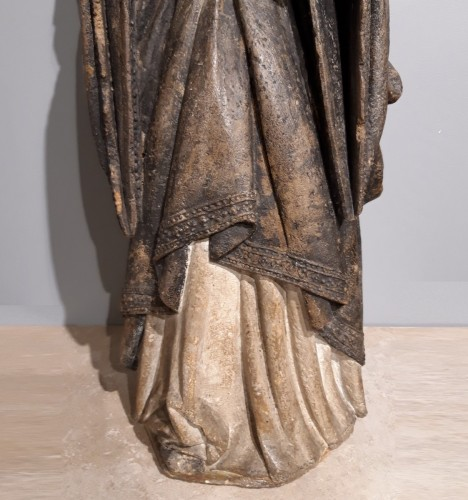 French Holy, carved stone, 15th century -