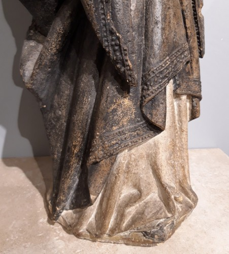 Antiquités - French Holy, carved stone, 15th century