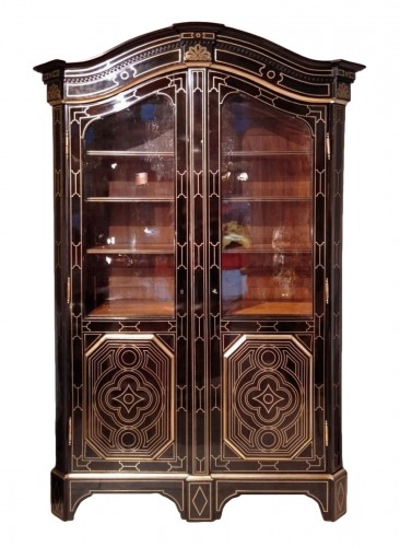 "French 19th century  glazed bookcase of ""style Regence"""