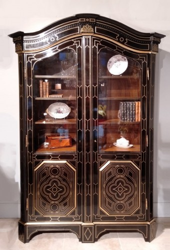 "French 19th century  glazed bookcase of ""style Regence"" - Furniture Style Napoléon III"