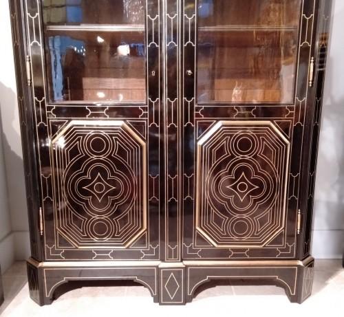 "Furniture  - French 19th century  glazed bookcase of ""style Regence"""