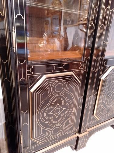 """French 19th century  glazed bookcase of """"style Regence"""" -"""