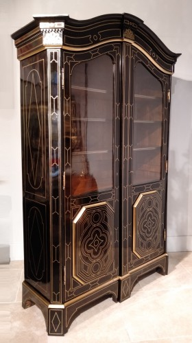 "Napoléon III - French 19th century  glazed bookcase of ""style Regence"""