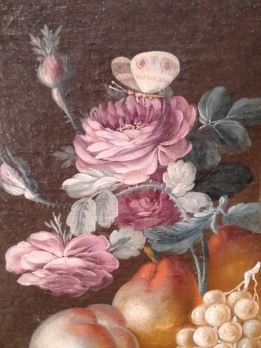Paintings & Drawings  - French still life painting, signed Vernet, 18th century