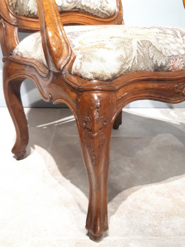 "Italian armchair ""chassis"", 18th century -"