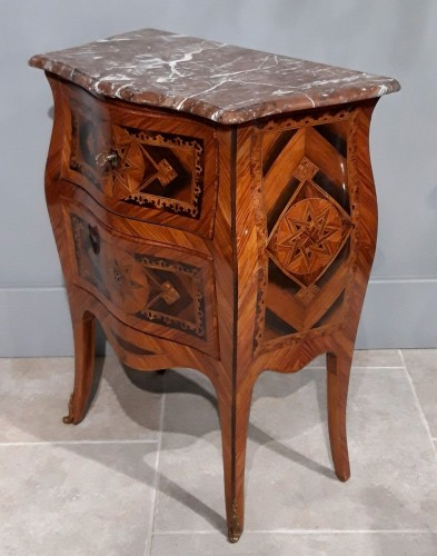 Small Italian Commode, Inlaid, 18th Century -