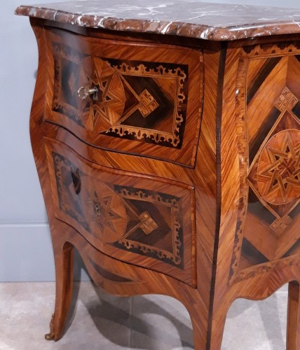 18th century - Small Italian Commode, Inlaid, 18th Century
