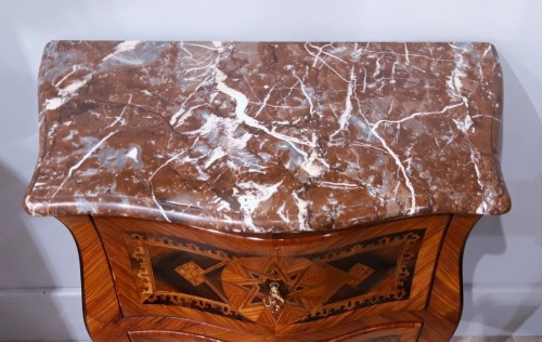 Small Italian Commode, Inlaid, 18th Century - Louis XV