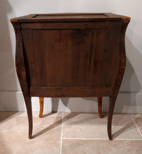 Louis XV - Small Italian Commode, Inlaid, 18th Century