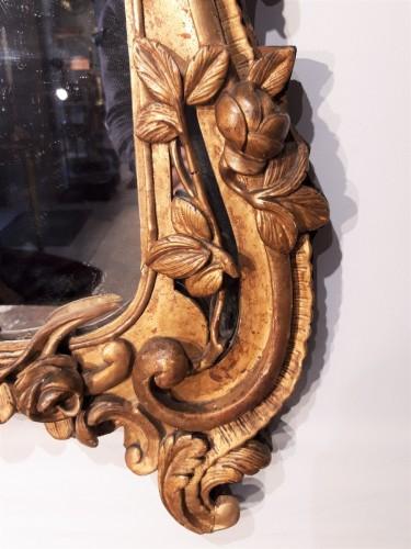 French Louis XV Mirror, Gild Wood, 18th Century -