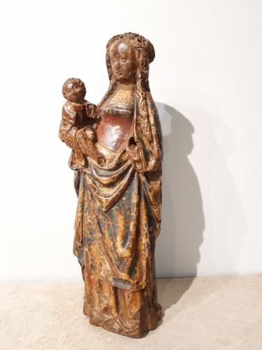 """Virgin and Child called """"Poupée de Malines"""" circa 1500-1520 - Sculpture Style Renaissance"""