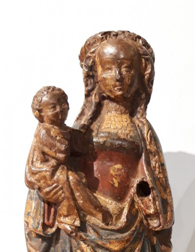 "Sculpture  - Virgin and Child called ""Poupée de Malines"" circa 1500-1520"