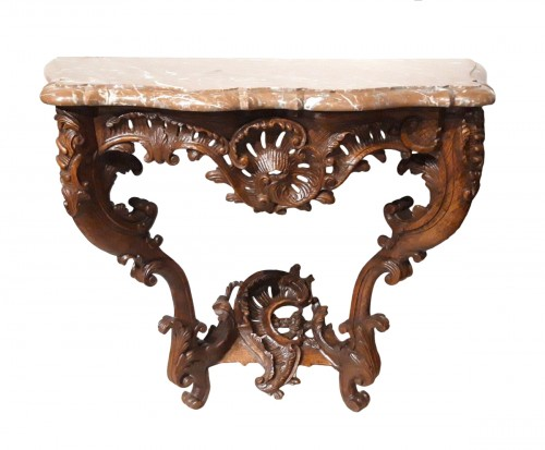 Louis XV console carved oak 18th century
