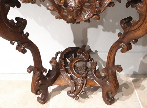 Louis XV console carved oak 18th century -
