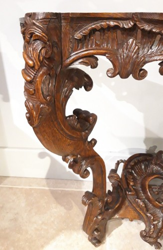 18th century - Louis XV console carved oak 18th century