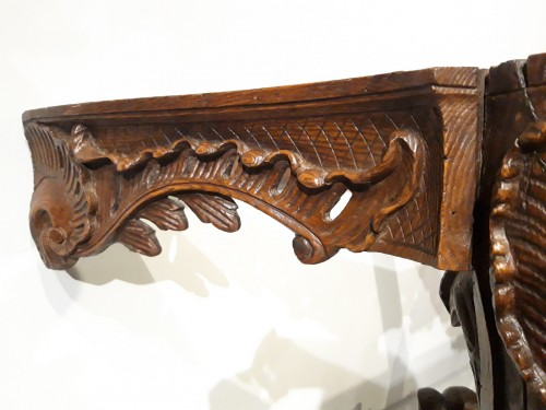 Louis XV console carved oak 18th century - Louis XV