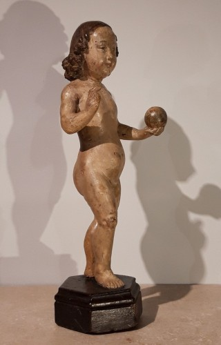 Sculpture  -  Child Jesus in carved wood circa 1520